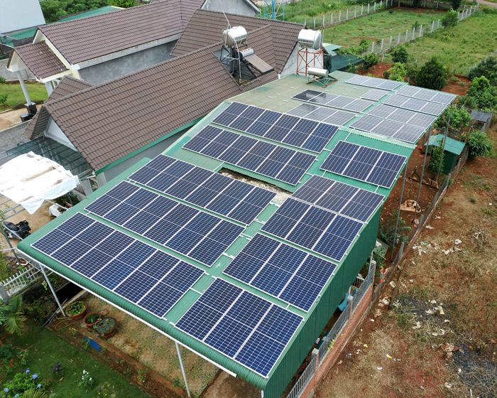 Lắp điện mặt trời áp mái: Hệ thống công suất 30kW tại Đắk Nông 2