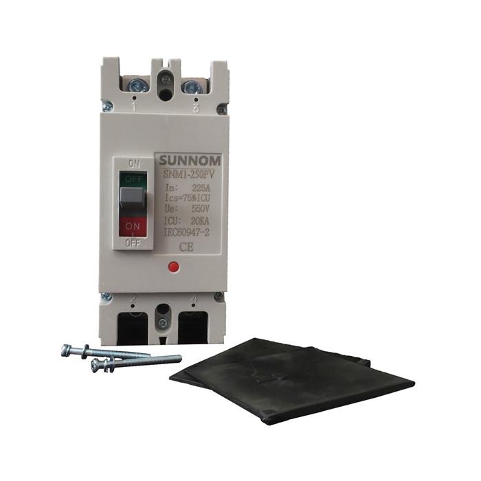 MCCB 225A 2P 550VDC hãng SUNNOM dùng cho hệ thống điện mặt trời