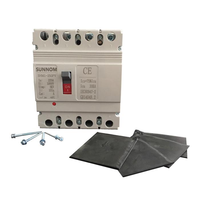 MCCB 225A 4P 1000VDC hãng SUNNOM dùng cho hệ thống điện mặt trời
