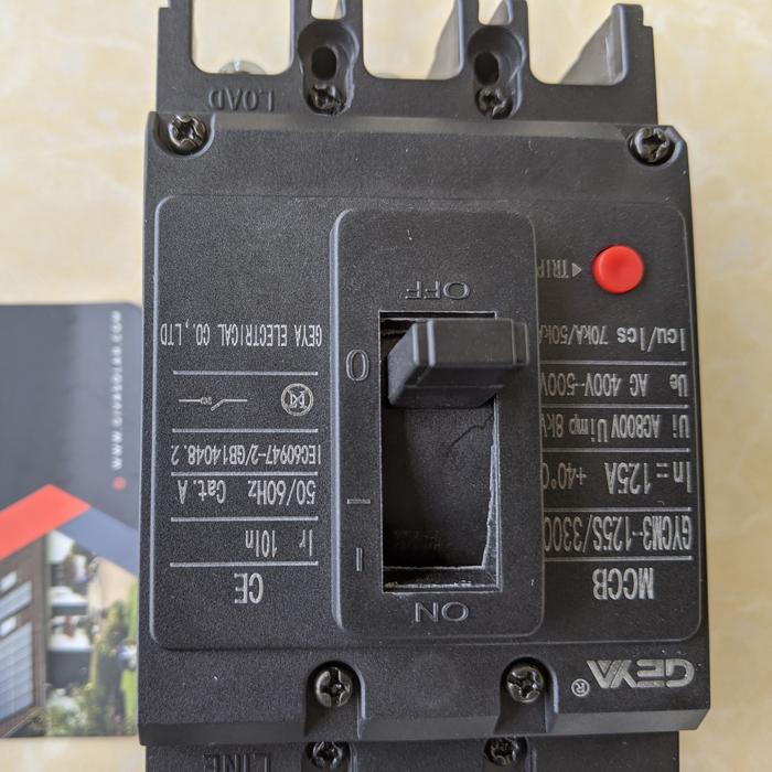 MCCB GYCM3-125SP/3300 100A/125A AC400V-500V thương hiệu GEYA 11