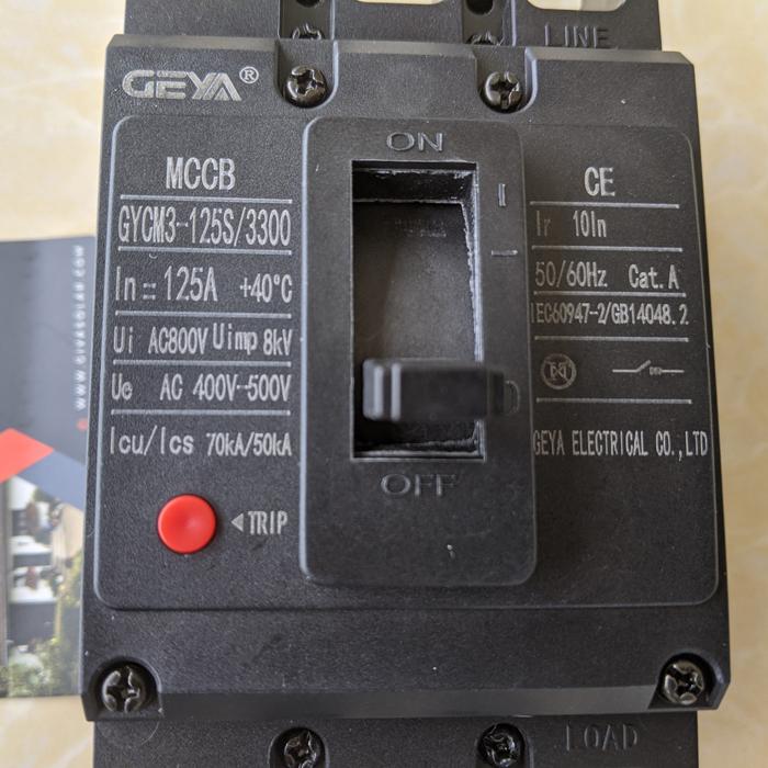 MCCB GYCM3-125SP/3300 100A/125A AC400V-500V thương hiệu GEYA 14