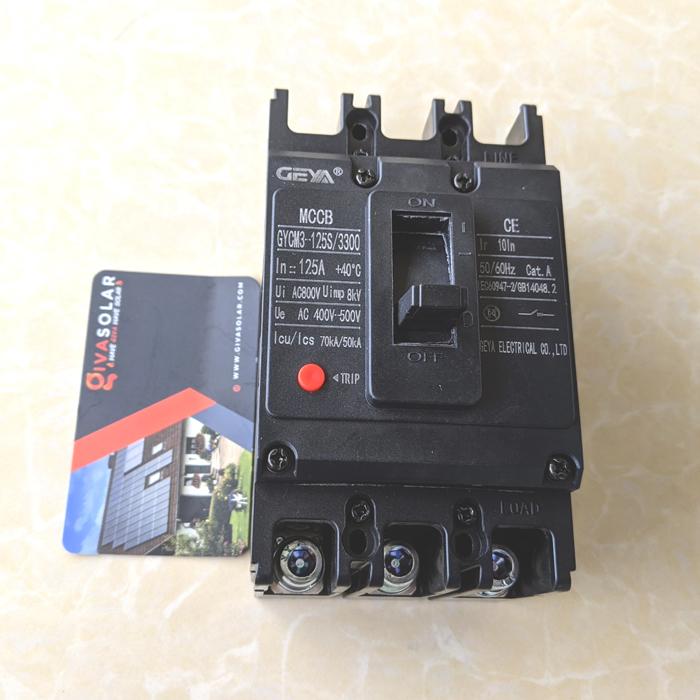 MCCB GYCM3-125SP/3300 100A/125A AC400V-500V thương hiệu GEYA 15