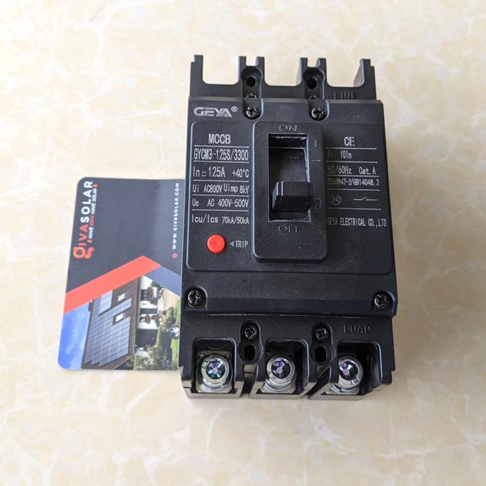 MCCB GYCM3-125SP/3300 100A/125A AC400V-500V thương hiệu GEYA 18