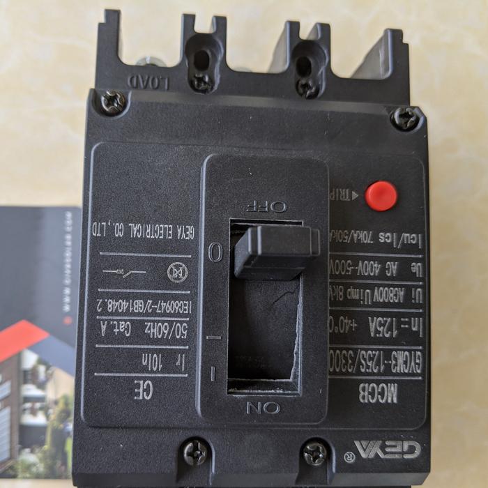 MCCB GYCM3-125SP/3300 100A/125A AC400V-500V thương hiệu GEYA 9