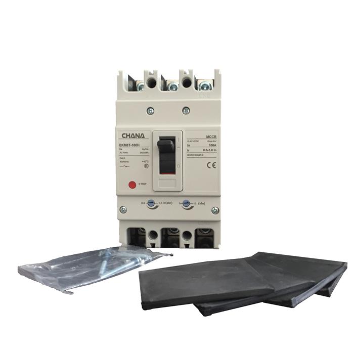 MCCB sử dụng trong các hệ thống điện mặt trời CHANA 3P-80-100A-6KA