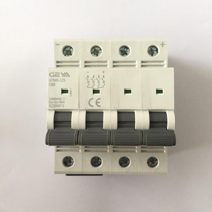 Phụ kiện lắp điện mặt trời CB DC GYM9-4P hãng GEYA 80A