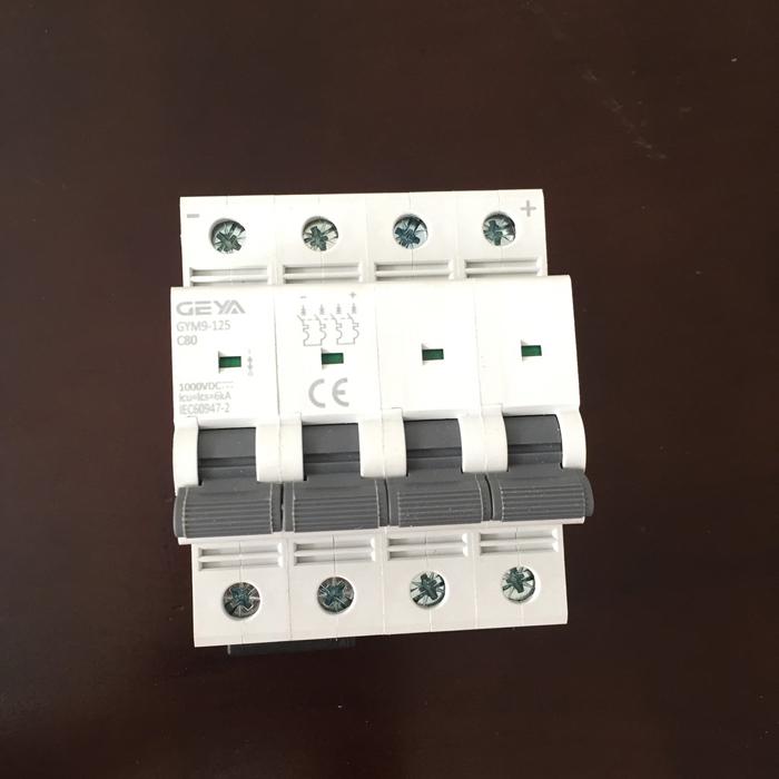 Phụ kiện lắp điện mặt trời CB DC GYM9-4P hãng GEYA 80A 1