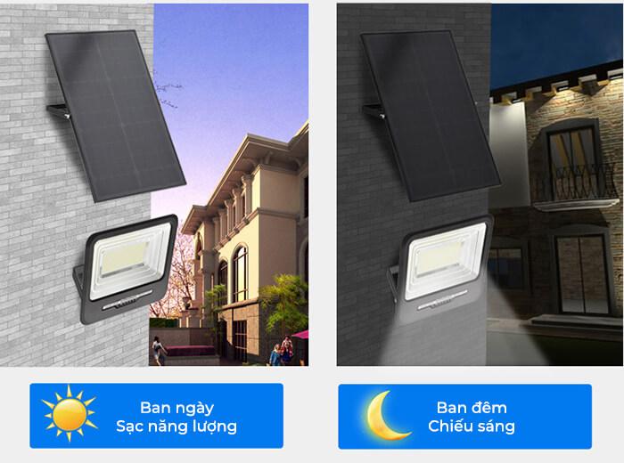 Đèn pha LED sử dụng điện mặt trời GV9200 - 200W 4