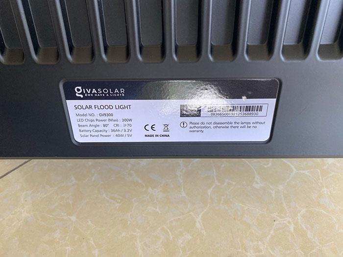 Đèn pha sử dụng năng lượng mặt trời 300W - GV9300 13