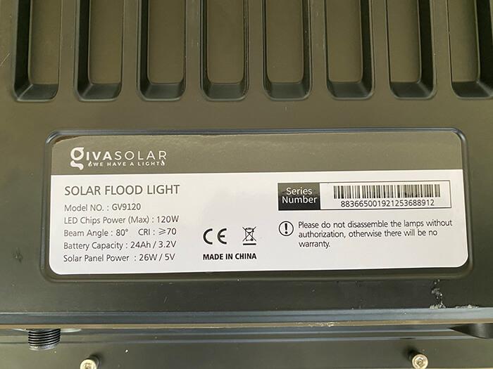 Đèn pha năng lượng mặt trời công suất 120W - GV9120 giá cực tốt 12