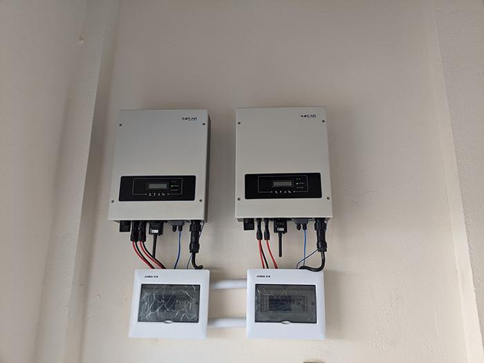 Lắp điện mặt trời áp mái hòa lưới bám tải 10kW tại Bình Thuận 8