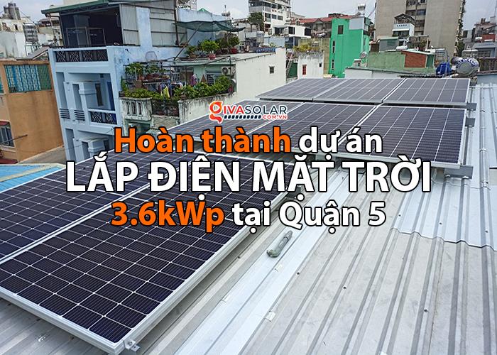 Hoàn thành lắp đặt hệ thống điện mặt trời 3.6 kWp tại Quận 5
