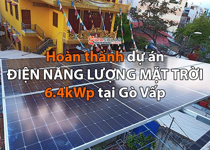 Hoàn thiện lắp đặt điện mặt trời 6.4 kWp tại Gò Vấp