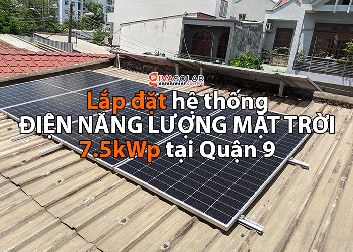 Lắp đặt điện mặt trời công suất 7.5 kWp tại quận 9