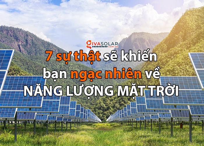 Thực tế ngạc nhiên về điện năng lượng mặt trời
